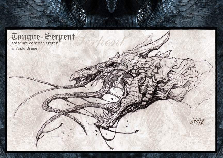 Tongue Serpent- sketch by andybrase