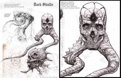 Dark Skulls- sketch page