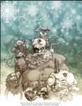Dark Santa and Headless Frosty