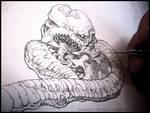 Tentacles + Teeth- WIP sketch