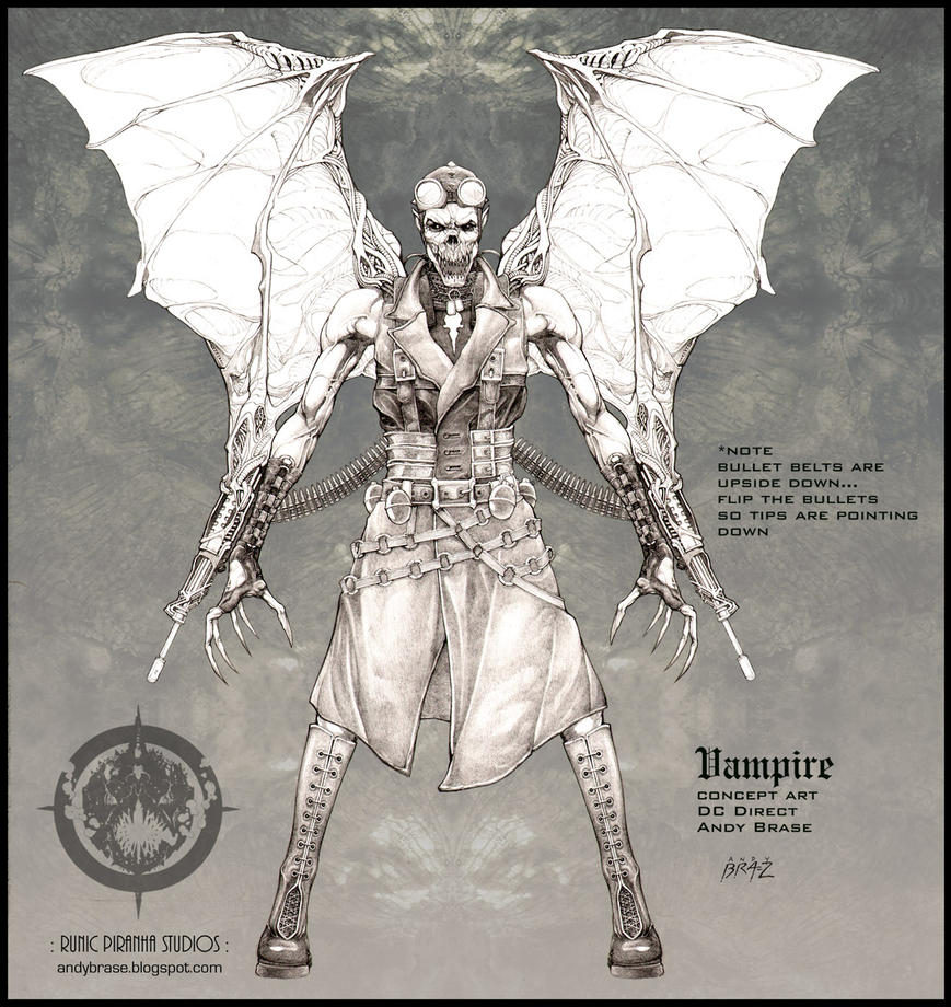 Vampire concept art by andybrase