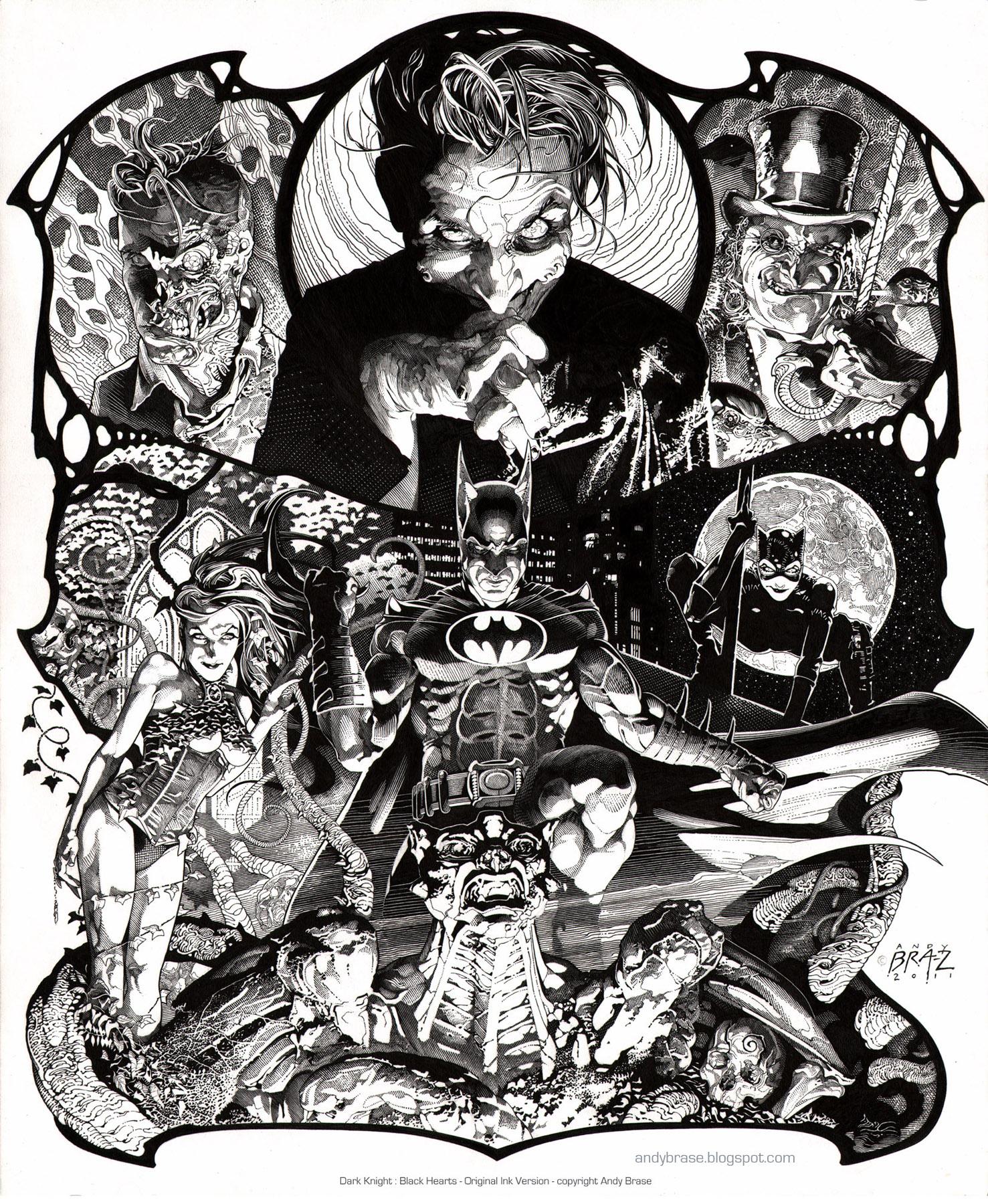 Dark Knight- Ink by andybrase
