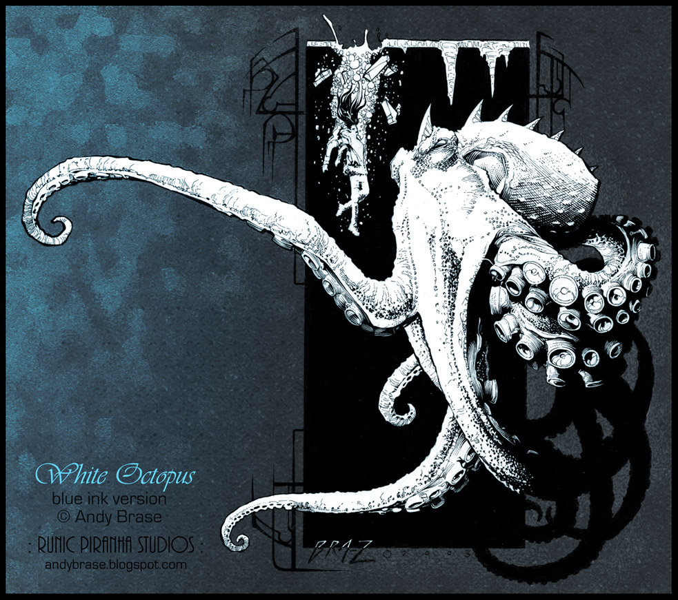 White Octopus by andybrase