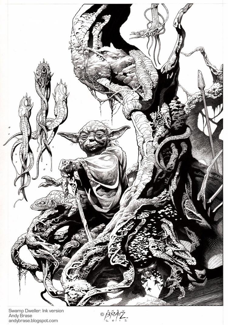 Swamp Dweller- Ink by andybrase