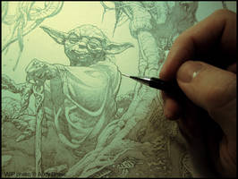 Yoda WIP photo by andybrase