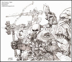 War Dreams : Right : Pencil by andybrase