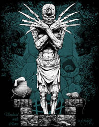 Undead T-shirt Design by andybrase