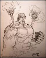 Tribal Hulk: sketch by andybrase