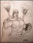 Tribal Hulk: sketch
