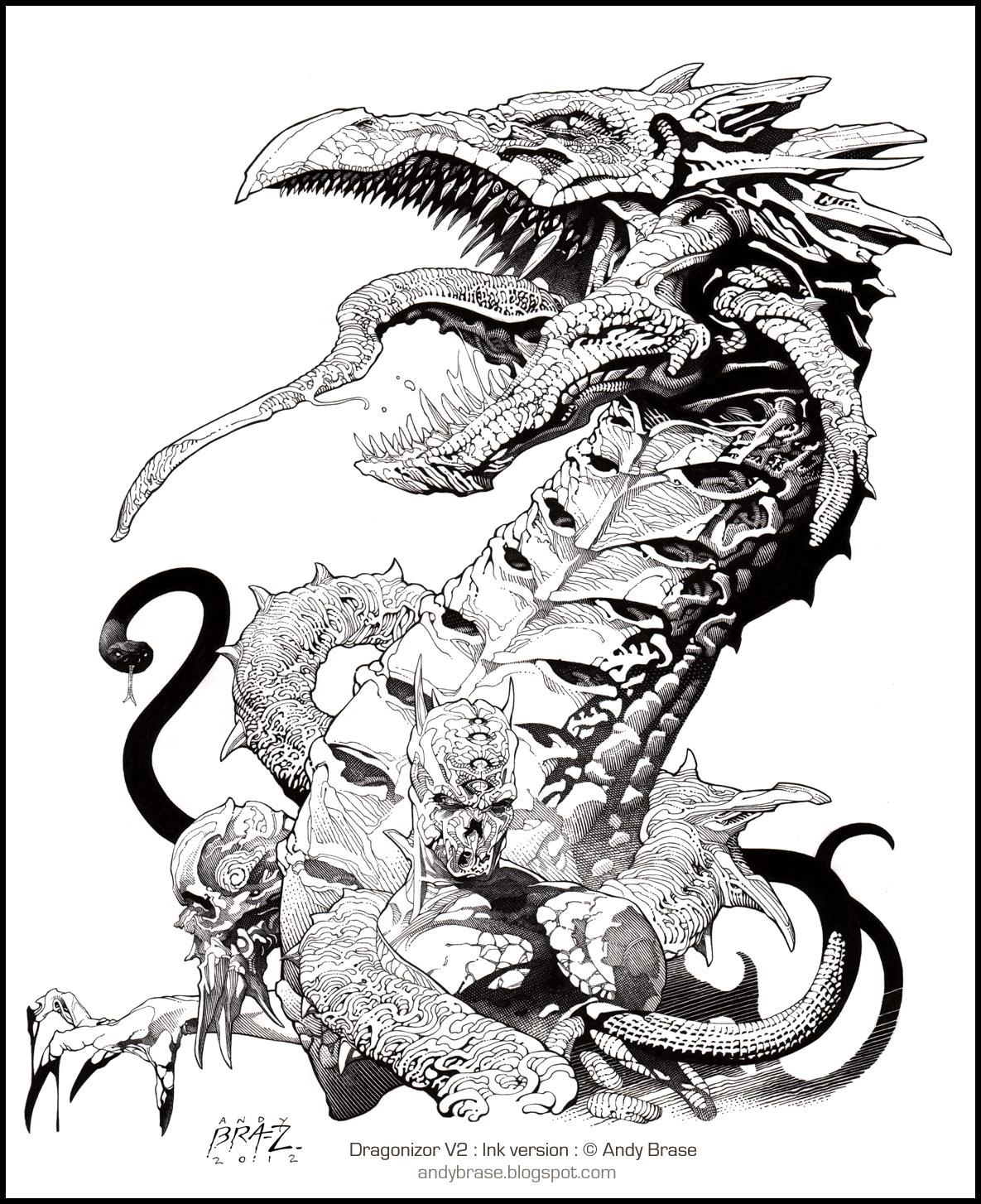 Dragonizor V2: Original Ink by andybrase