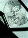 Joker Framed in Shadows: Pencil