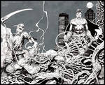 Swamp, Scarecrow, Superman : INK (DC cover)