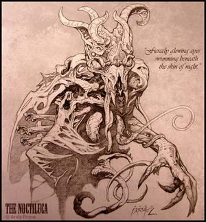 Creature Concept: Noctiluca (Pencil)