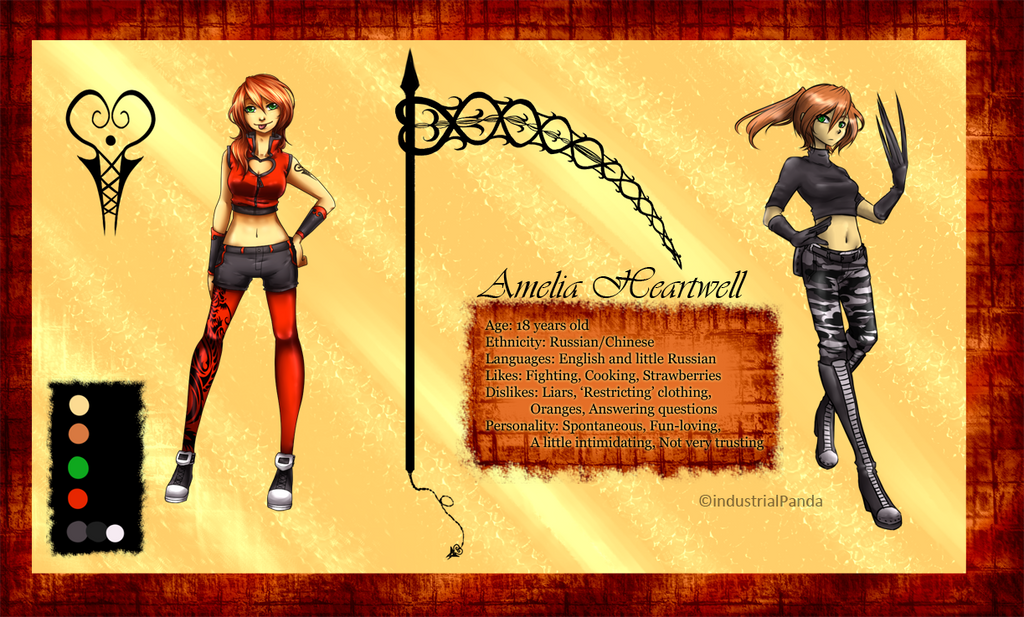 Amelia Heartwell Reference by Cashewdee