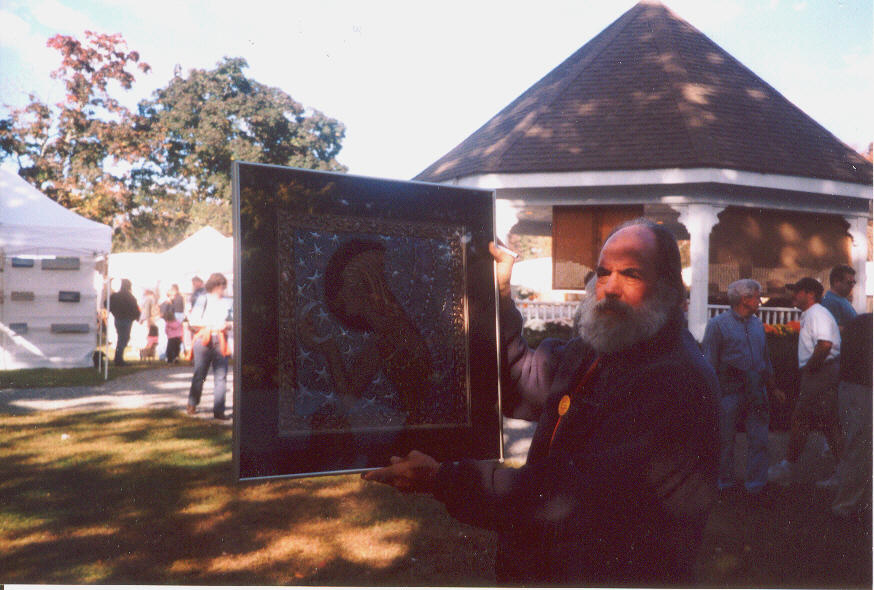 Joel Zaretsky with Painting by hybridevolution127