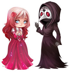Celeste and...  - chibi commission by clover-teapot