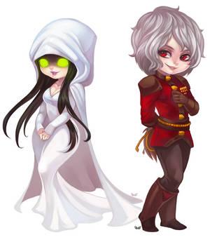 Chibi dump - Enchantress and Charion