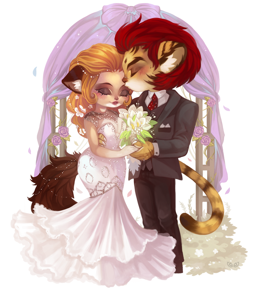 Together - chibi commish by clover-teapot
