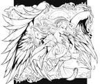 Heaven's light - Lineart Commission