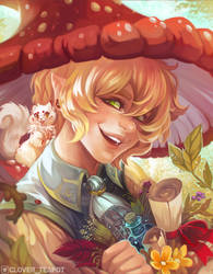 Garden of Dreams - Illustration Commission by clover-teapot