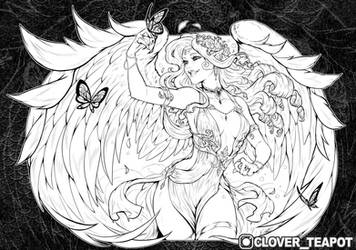 Anya - Lineart Commission by clover-teapot