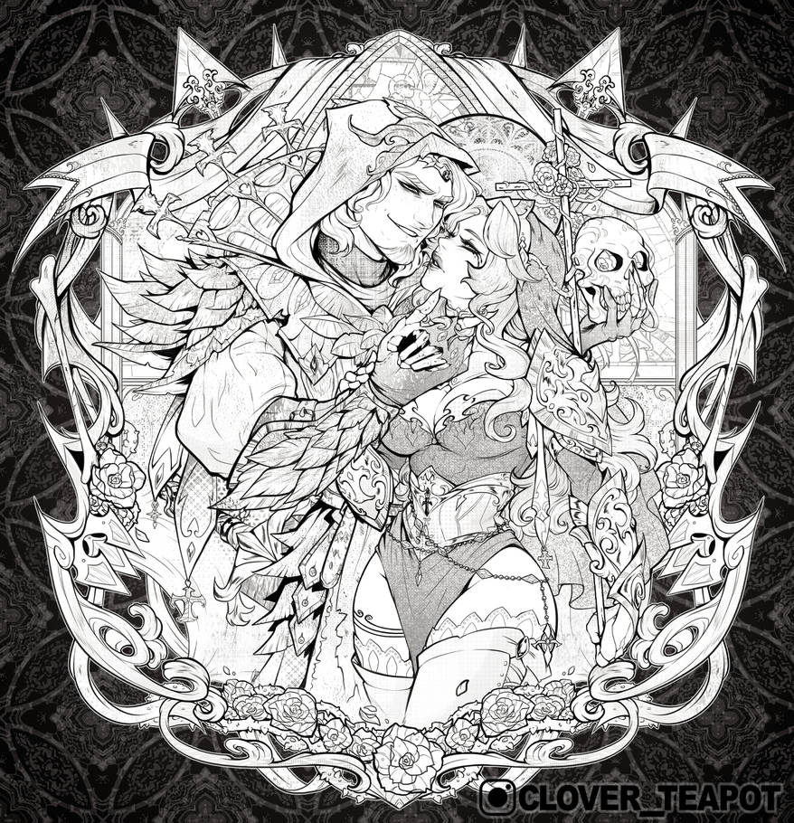 Aere Perennius - Lineart Commission by clover-teapot