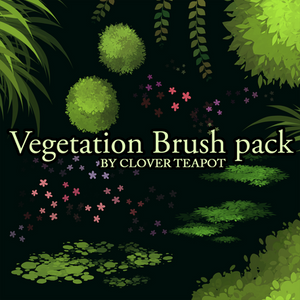 Vegetation Brush Pack - 8 brushes  - 300 POINTS