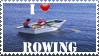 I Love Rowing Stamp by the-sashimi-frog