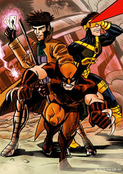 Wolverine, Gambit and Cyclops