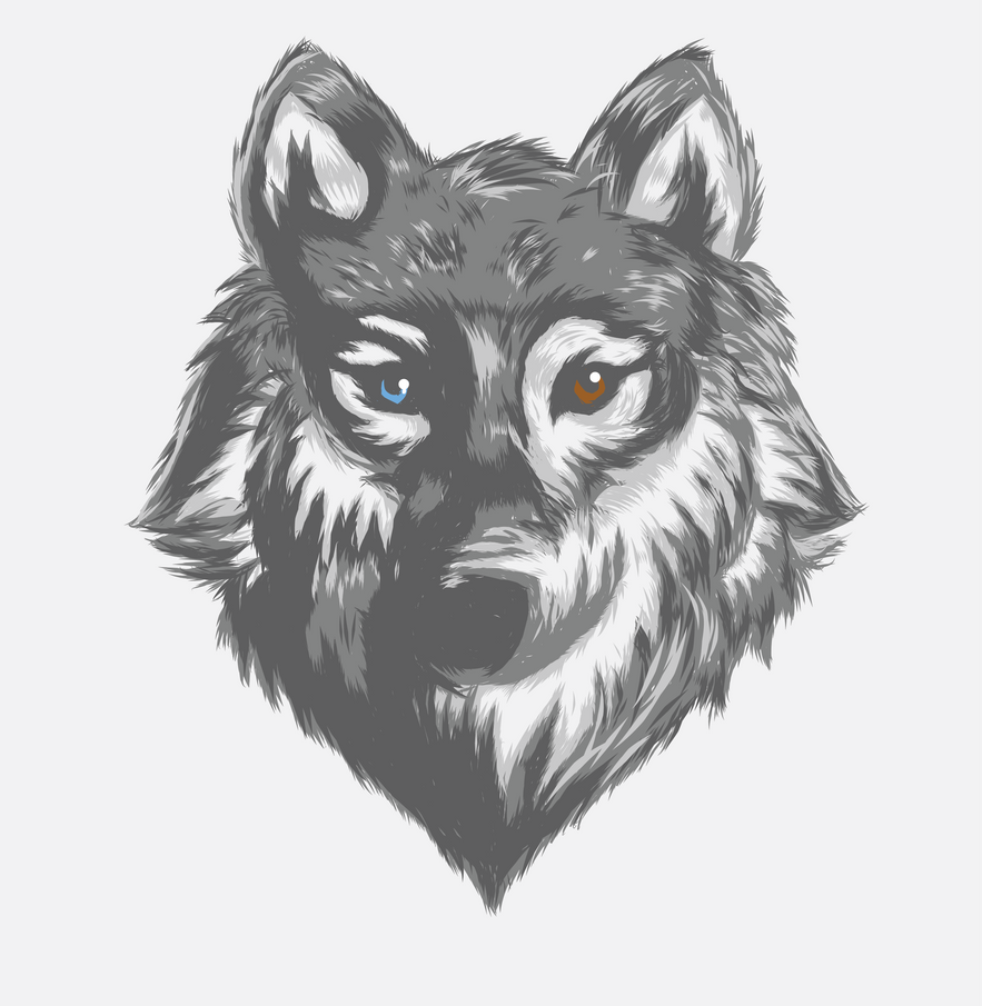 Vector wolf by fear229