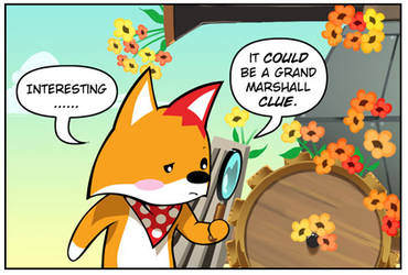 Rocket Fox 14 panel 2: Don't Look too Closely by StacyKing