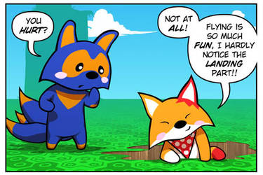 Rocket Fox 19 panel 1: The King Of Crashes