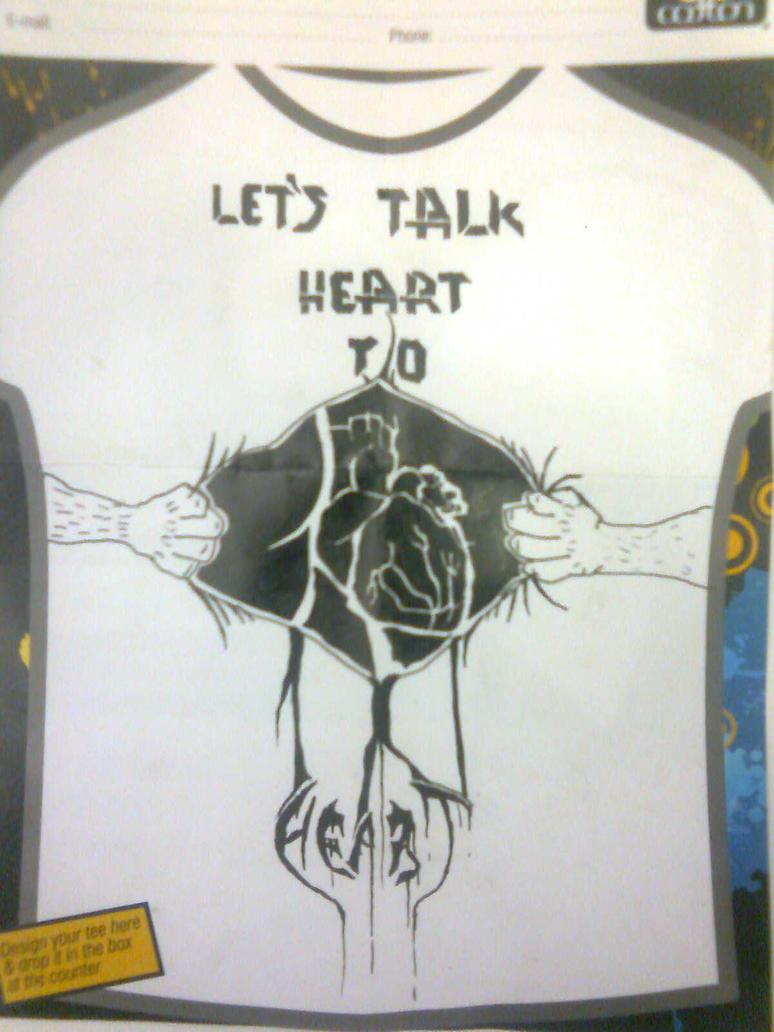 Heart design t shirt - Heart To Heart T Shirt Design By Metal Militant