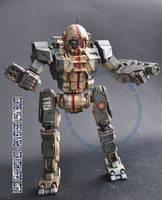 Mechwarrior Online Commando 1/60 model by smtkelly