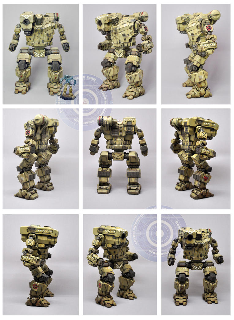 MWO Desert camo Hunchback 1:60 scale by smtkelly