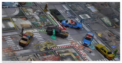 Zombicide scratch built cars #zombicide by smtkelly