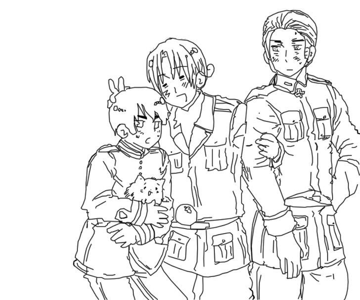 anime hetalia coloring pages - photo#29