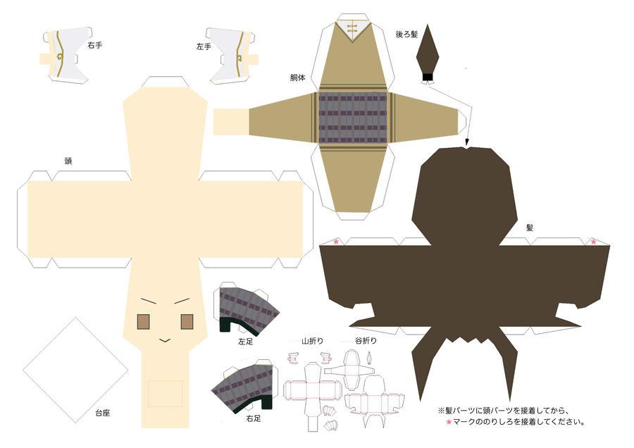 Gakuen China papercraft by KiraYumi123