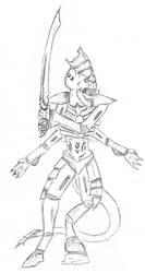 Tyranid Warrior Concept by ookamishichiyou