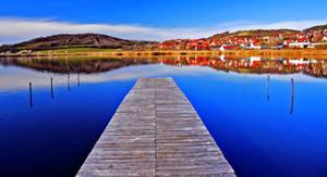 Tihany, Inside Lake by andyablo