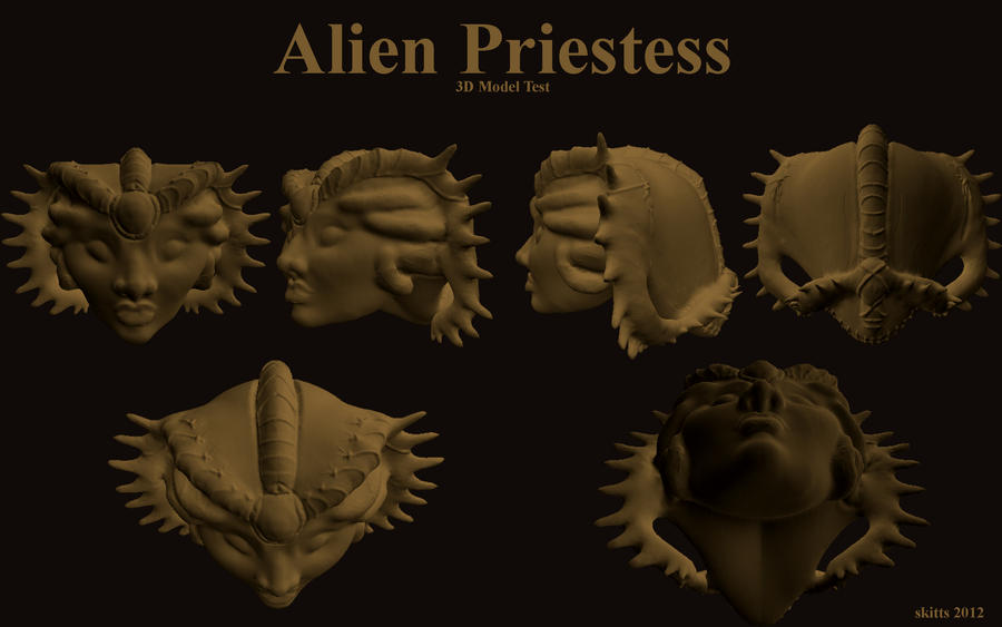 Alien Priestess 3D by Immobliss