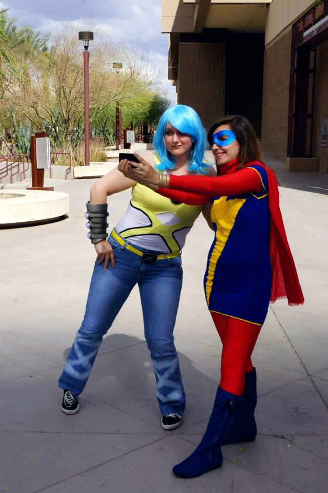 Surge and Ms Marvel Selfie by Immobliss