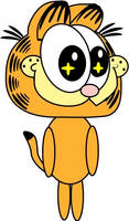 Garfield plush vector