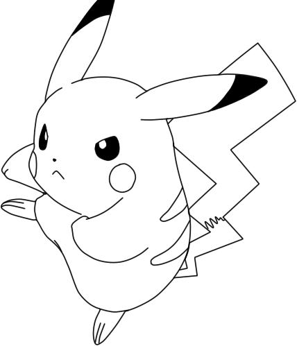 lineart de pikachu by gokunks on deviantart