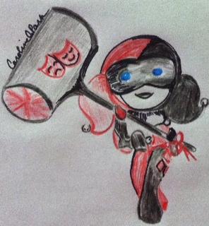 Jack's diamond sidekick Harley Quinn by ScarletQuill
