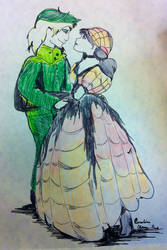 Worm-ent To Be - Goblin King and Sarah by ScarletQuill
