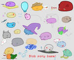 Base//Blob Ponies! by caecii