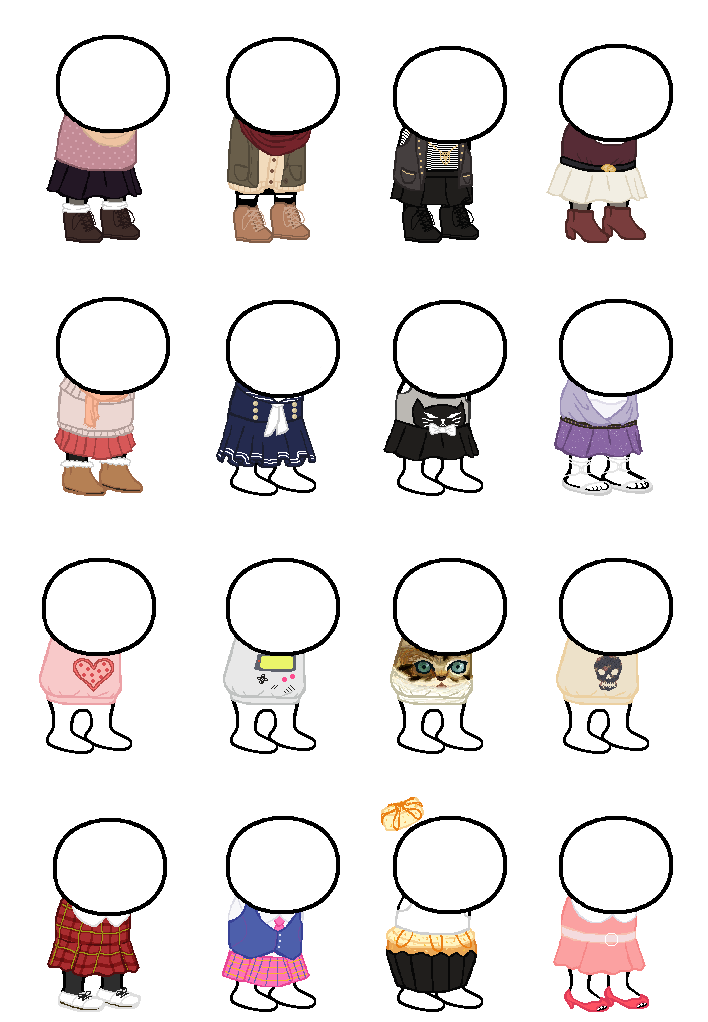 Homestuck Clothing Sprite Sheet By Caecii On Deviantart