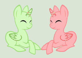 Original Base: Pony Couple by caecii