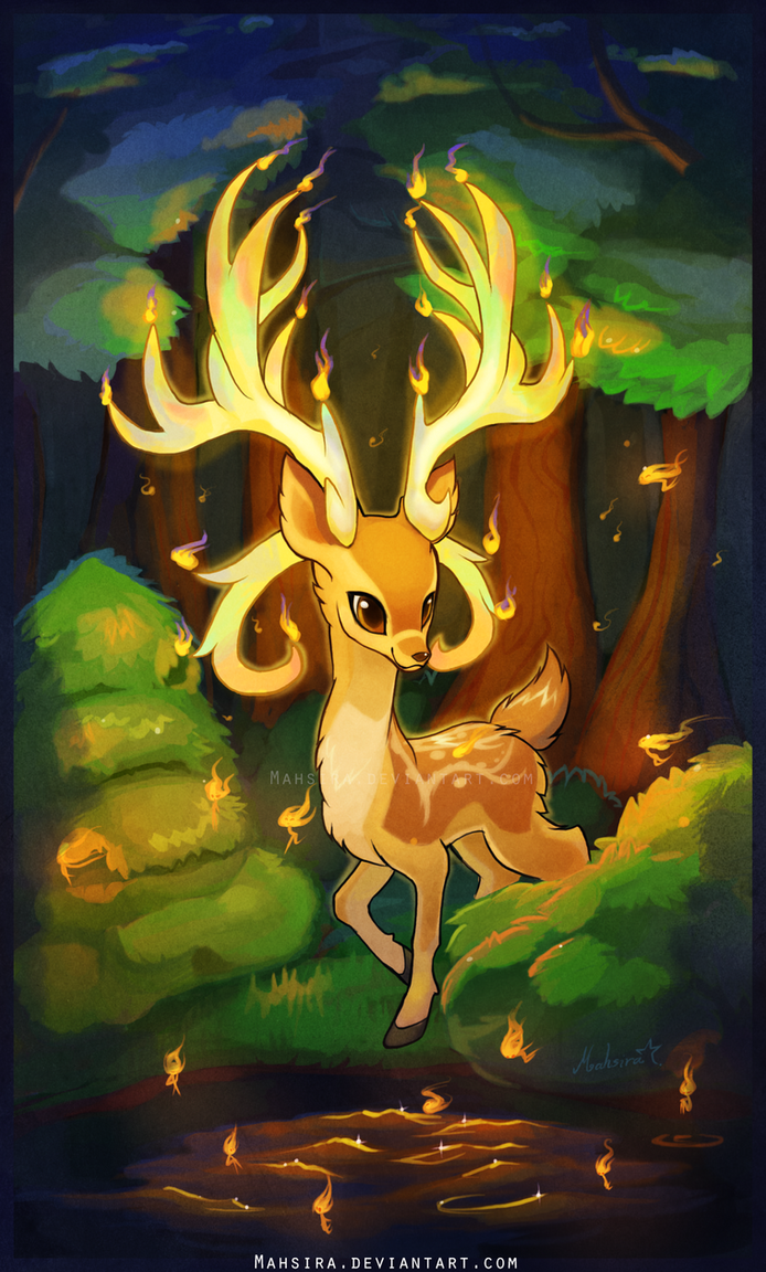Candle Deer by Mahsira